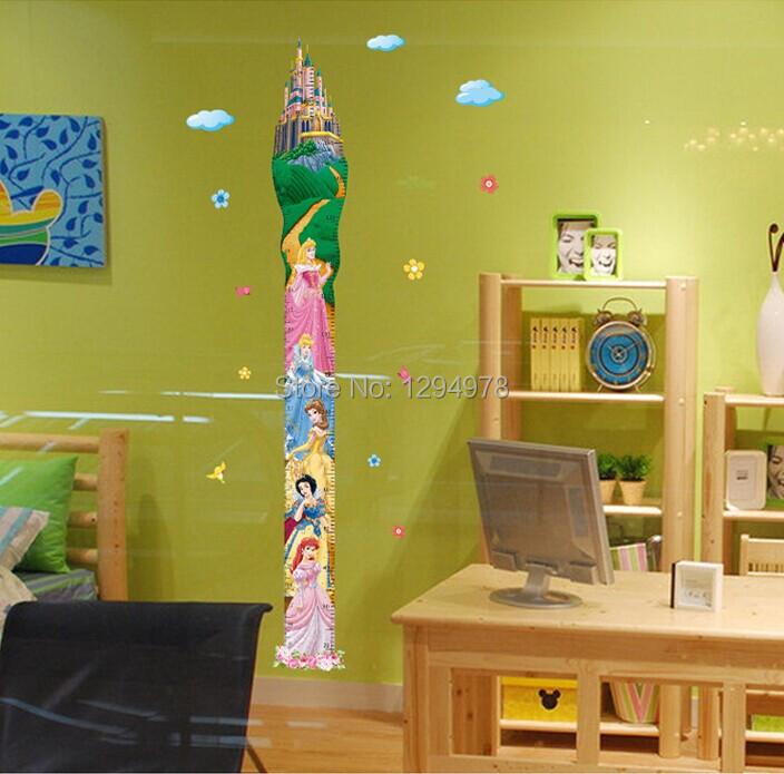 Princess Kids Room : room Height Tower Growth Chart Wall sticker for Girls/Kids/Children ...