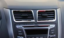Auto ABS sedan hatchback air-conditioning outlet in the middle of the decoration accessories For Hyundai Solaris Verna 2011-2015
