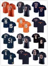 Free Shipping Dri-fit T-shirt #17 Alshon Jeffery #15 Brandon Marshall #51 Dick Butkus #69 Jared Allen #6 Jay Cutler 75 Kyle Long(China (Mainland))