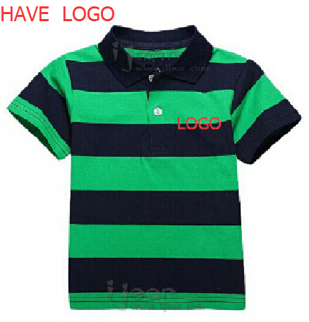 2015 New Arrival Summer boys high quality boys clothes for kids brand children's clothing short Sleeve striped polo Shirt(China (Mainland))