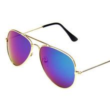 2016 New Fashion Children Sunglasses Boys Girls Kids Baby Child Sun Glasses Goggles UV400 Colorful Mercury Lens Glasses