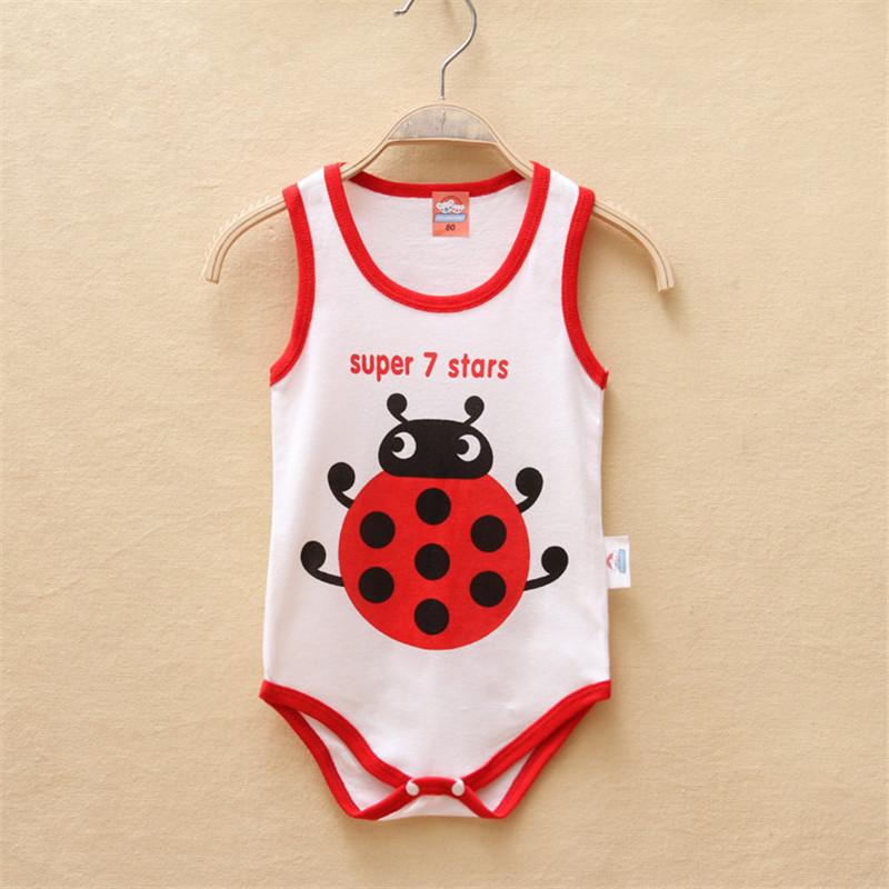 Cartoon Ladybug Infant Climbing Clothes Neonatal Triangular Romper Summer Models Cartoon Baby Cotton Coverall 6406203(China (Mainland))