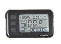 24v Electric Bike LCD(Display speed,voltage,mileage...) Black