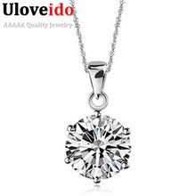 Long Crystal Necklace Pendant Women CZ Diamond Jewelry Love Necklaces Vintage Accessories Sale Valentine's Day Gift N321(China (Mainland))