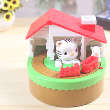 Itazura Automated Stealing Coin Cat Mouse Kitty Penny Piggy Bank Saving Box Kid Child Present Gift Money Boxes(China (Mainland))