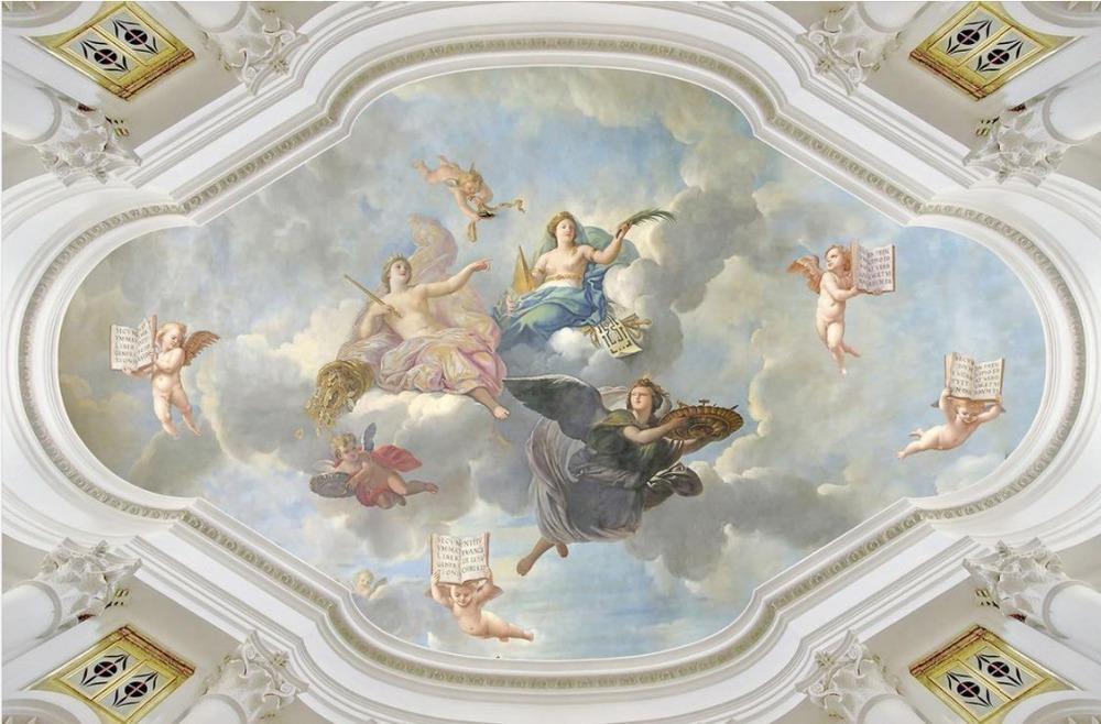 Online get cheap ceiling murals wallpaper for Angel wall mural