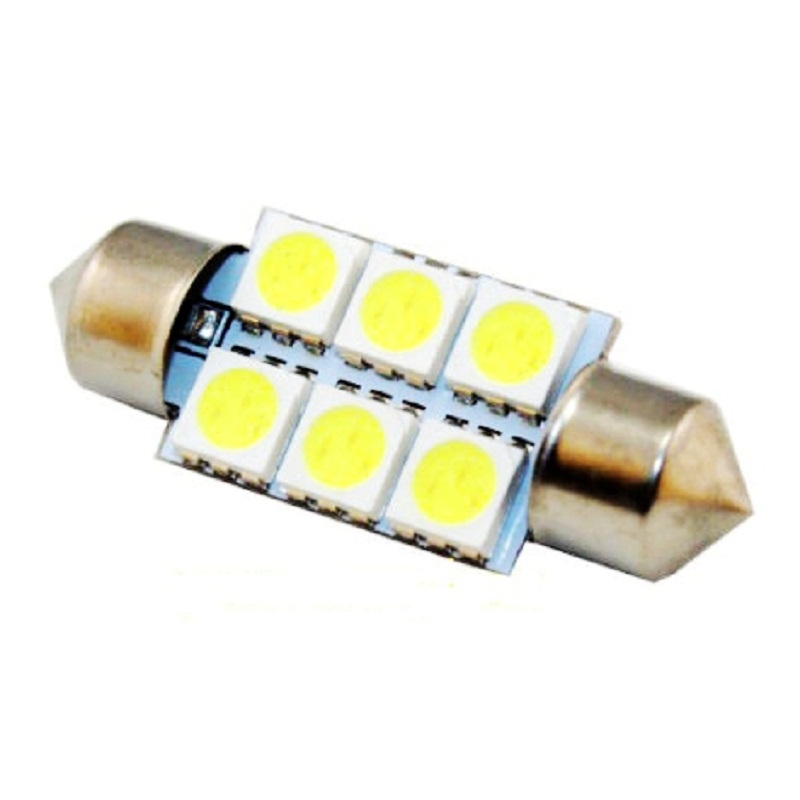 Wholesale 36mm c5w 6 smd 5050 Led Car Interior Festoon Dome Light Over Head Glove Box Reading Lamp white Auto Roof Light Source(China (Mainland))