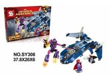 SY308 Building Blocks Super Heroes Avengers Minifigures Famous Heroes Assemble Figures Batman War Car Bricks Kids Toys