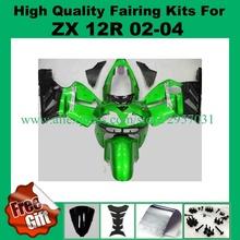 Buy Free screws+gifts Fairing kit KAWASAKI Ninja ZX12R 02 03 04 05 ZX 12R 2002 2004 2005 Green Black Fairings set for $376.20 in AliExpress store