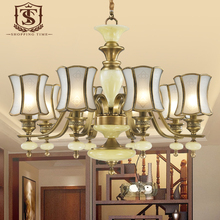 Western European new style Copper & Imitated Marble Stone Chandelier 8039-8A(China (Mainland))