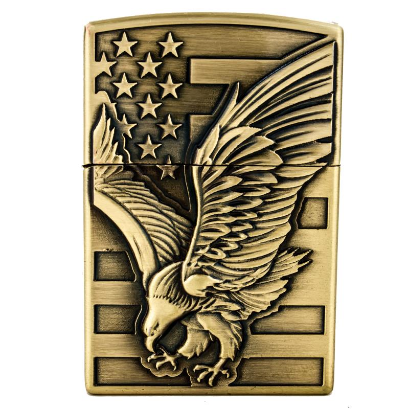 High-quality metal cigarette lighter flame Exclusive design of the eagle pattern Lighter A good gift for a man novelty gadgets(China (Mainland))