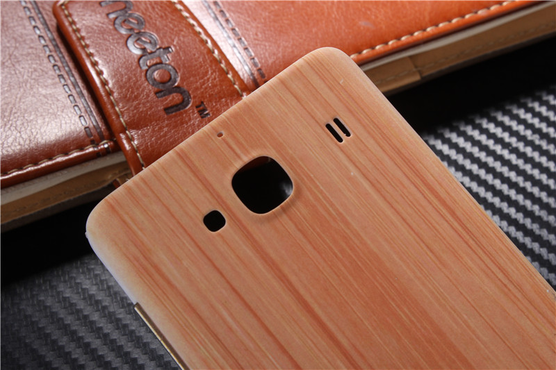 Original Wood Bamboo Pattern Case For Xiaomi Redmi 2 2s Back Battery Cover Housing Replacement Parts + Free Sucker