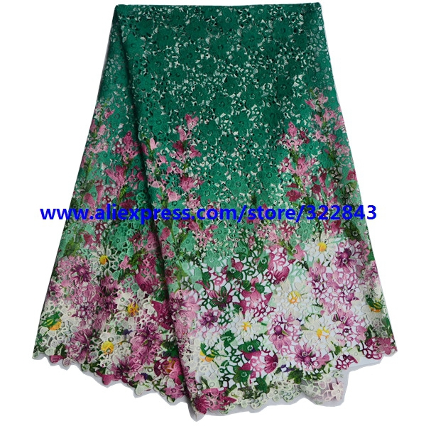 Здесь можно купить  New arrival 100% polyester materials green african cord laces.swiss guipure lace fabric for nigerian wedding dresses  Дом и Сад