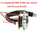 Night vision Microphone cmos H 264 30fps 1280 720 24pcs IR LED usb hd camera module