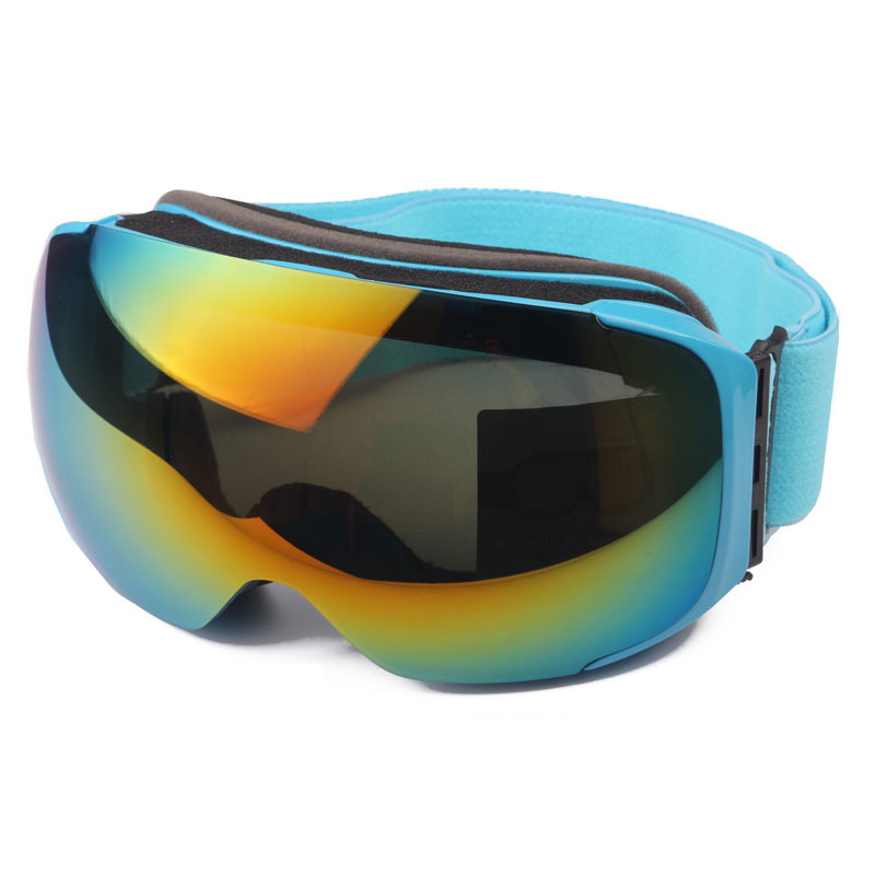 Polarized Ski Goggles Switchable with Optional Cloudy Day Lens by Magnet, Anti-fog Snowboard Glasses Wear Over RX Glasses(China (Mainland))