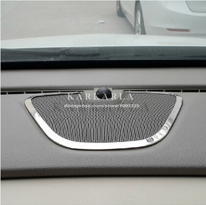 New Design Stainless Steel For Opel VAUXHALL ASTRA J interior Central loudspeaker decoration sequins(China (Mainland))