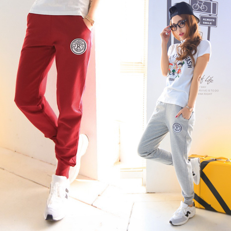 2014 new fashion women's casual pants feet were thin pencil pants Casual Loose Thin Trousers Sports Pants(China (Mainland))