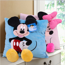 Hot Sale Staffed Animal Pillow Cushion Cute Mickey Mouse and Minnie Mouse Plush Toys Gifts for KIds Girls(China (Mainland))