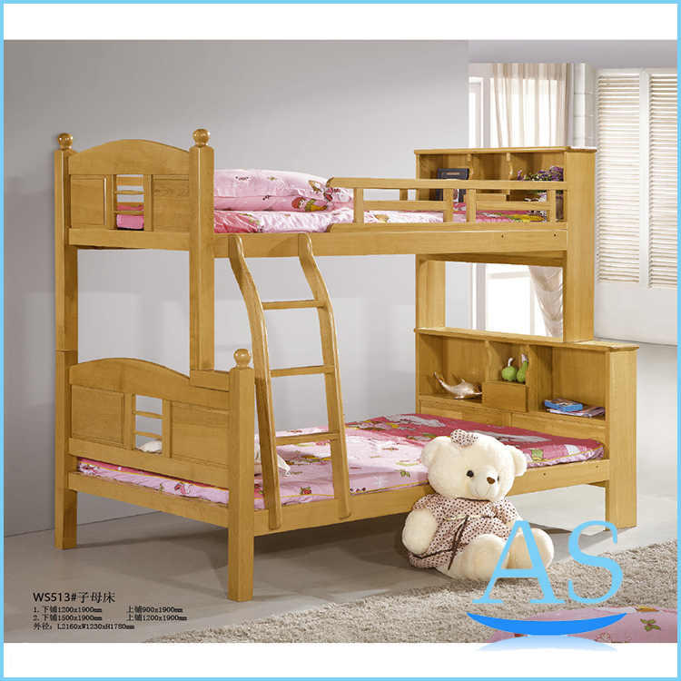 Popular good quality beech solid wood kids bunk bed children double bed Bedroom Furniture ws513(China (Mainland))