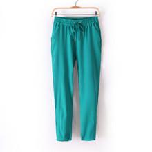 Chiffon Pants Summer Women Pants Harem Pants Drawstring Elastic Waist Pants Casual Plus Size Women Trousers free shipping(China (Mainland))