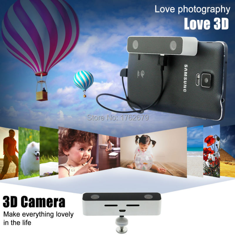 Dual lens 3D Video Camera Virtual Reality HD colorful, fashionable Video Camcorder for Android Telephone HUAWEI Mate 7/8/S(China (Mainland))