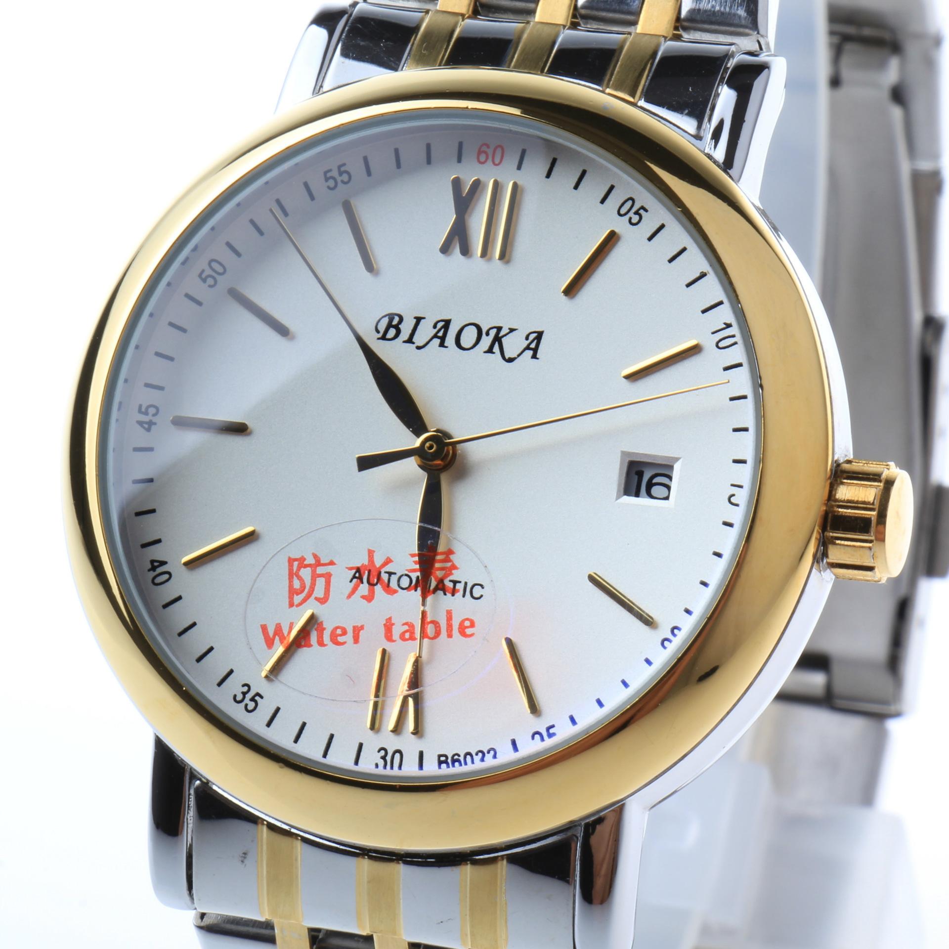 2016 новый Известный Бренд BIAOKA часы синего стекла 100 м глубины водонепроницаемый календарь мужчины механические часы Спортивные Мужские Часы relogios