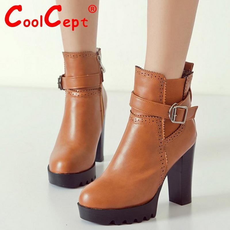 women high heel ankle boots half short boot martin autumn winter botas fashion footwear quality heels shoes P20599 size 34-39<br><br>Aliexpress