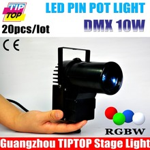 20pcs/lot Black Case 10W Cree 4IN1 LED Pinspot Light