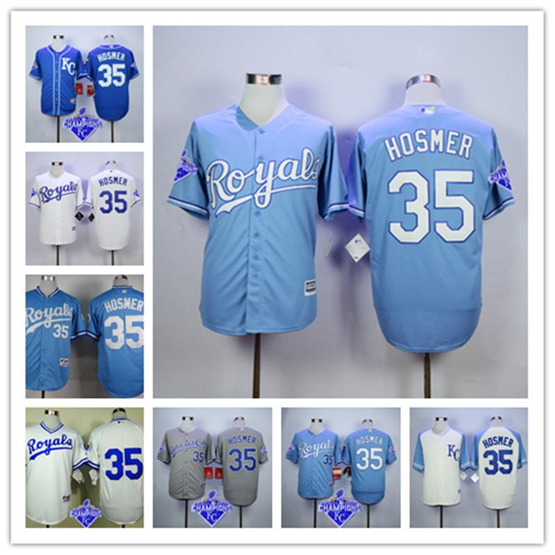 Cheap Baseball Jersey Free Shiping Kansas City Royals 35 Eric Hosmer Jersey Customize Baseball Jersey of Many Colors