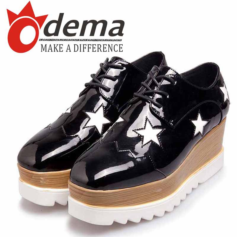 Wholesale New Spring/Autumn Women Shoes Top Genuine Leather Woman Sneakers Solid Star Trifle Oxfords Sport Shoes(China (Mainland))