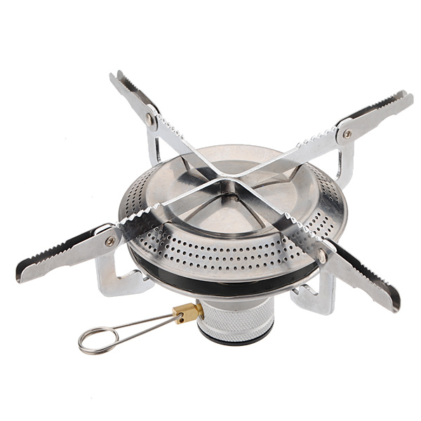 High quality Portable Stainless Steel Collapsible Bracket Gas Stove Burner Outdoor Picnic Barbecue Camping Equipment with bag(China (Mainland))
