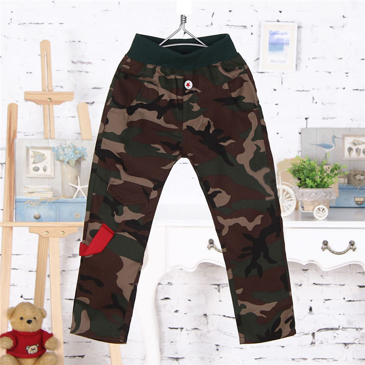 2015 spring and autumn new style baby boys camouflage pants little boys casual long trousers A3195(China (Mainland))