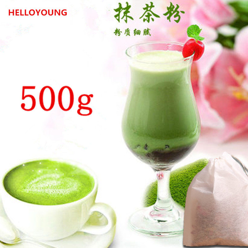 Premium 500g China Matcha Green Tea Powder 100% Natural Organic Slimming Matcha Tea Weight Loss Food Powder Green Tea(China (Mainland))