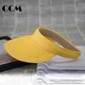 Baby Visor Hat Summer Hollow Girls Straw Hat Lovely Beach Solid Sun Hats Caps Baby Clothing