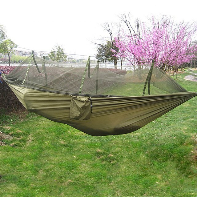 Portable Single-person Mosquito Net Hammock