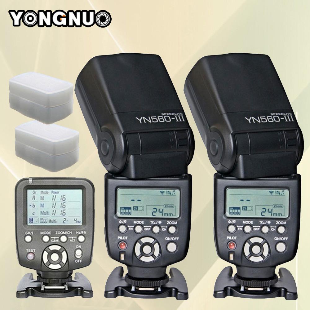 YONGNUO YN560-TX YN560TX LCD Wireless Flash Controller + 2x YN-560 III YN560 III Wireless Flash Speedlite Flashlight For Canon(China (Mainland))