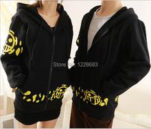 Hot Sale Japanese Anime Cosplay Clothes One Piece Trafalgar Law Cosplay Costume Black Trafalgar Law Hoodie Jackets Coat(China (Mainland))