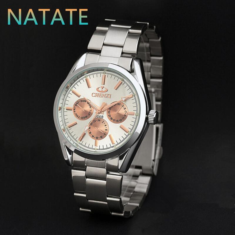 NATATE CHENXI Brand Men luxury Business Clock Fashion Watch full Stainless Steel Quartz watches Wristwatch Casual Watches 1140<br><br>Aliexpress
