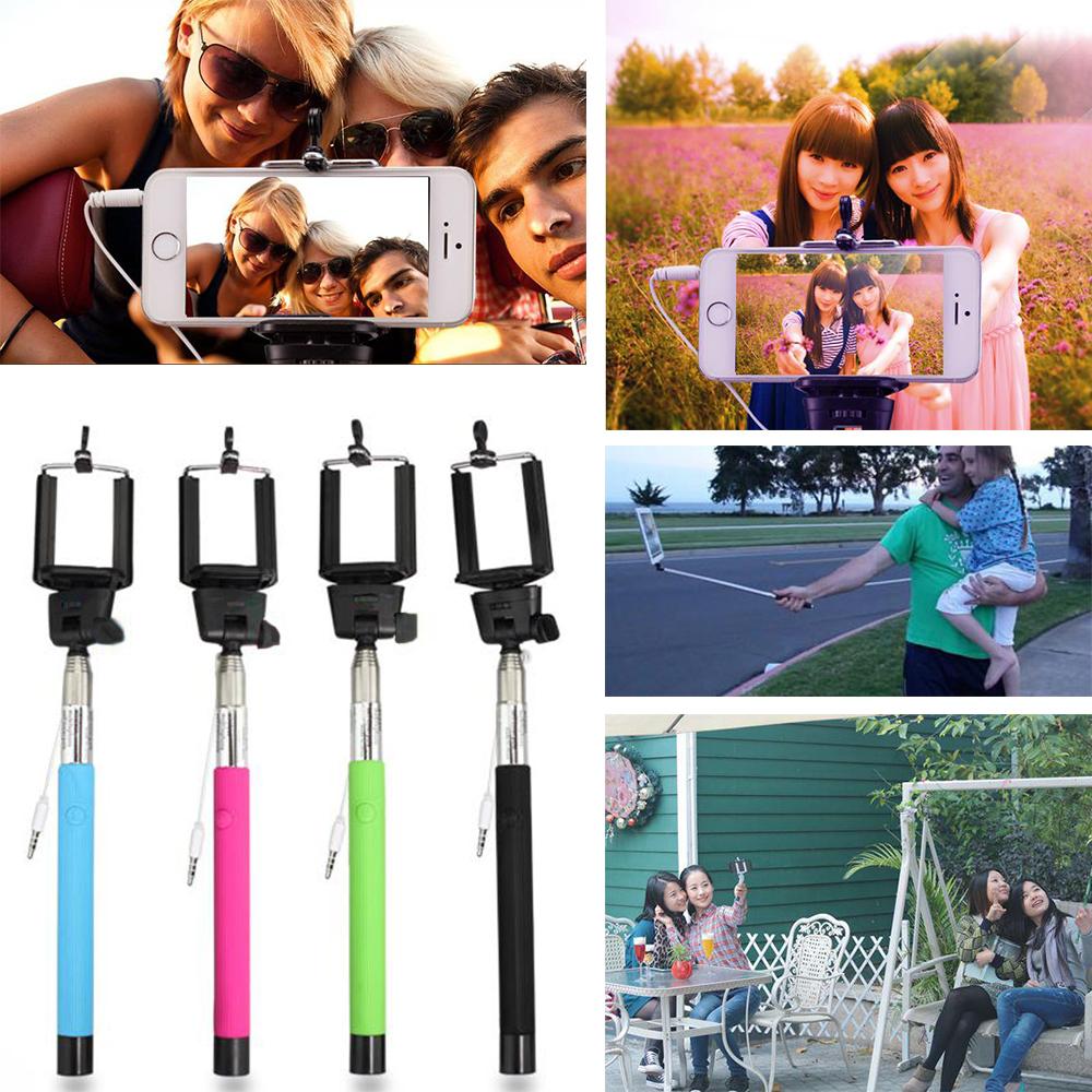 Hot Profissional Grooves On Selfie Stick Mobile Phone Camera Selfie Tripod 1/4 Screw Extendable Portrait Handheld Selfie Monopod(China (Mainland))