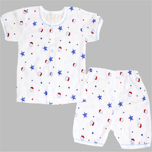 2016 new arrival baby girls and boys clothing Short Sleeved sleeve sleepwear suits summer Infant cotton cartoon clothes  25(China (Mainland))