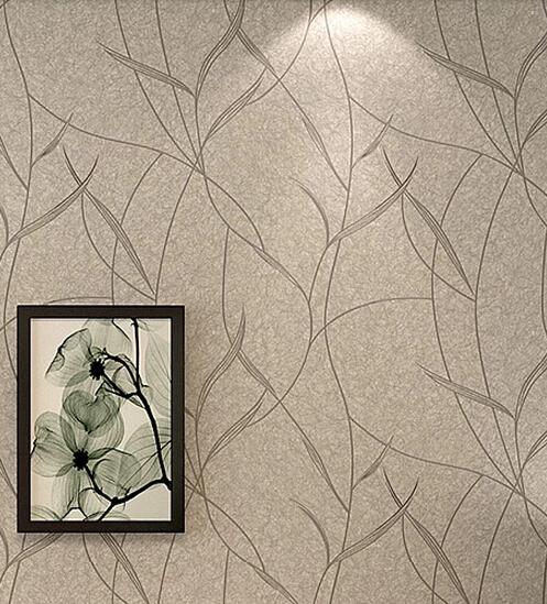 Hoja breve papel pintado moderno no tejido papel tapiz - Papel pintado moderno ...