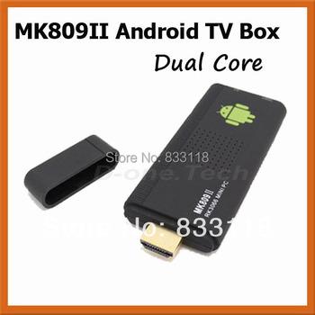 XBMC Android Tv Box With Built-in Skype Wifi Hot Spot MK809II (MK809B) DVB-T2 High Quality  Smart TV Box