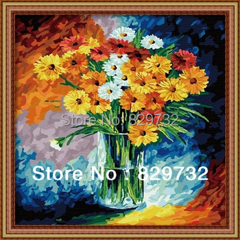 JIUJIU DIY digital oil painting Free shipping unique gift 40X40cm Daisy - Fresh the picture paint by numbers