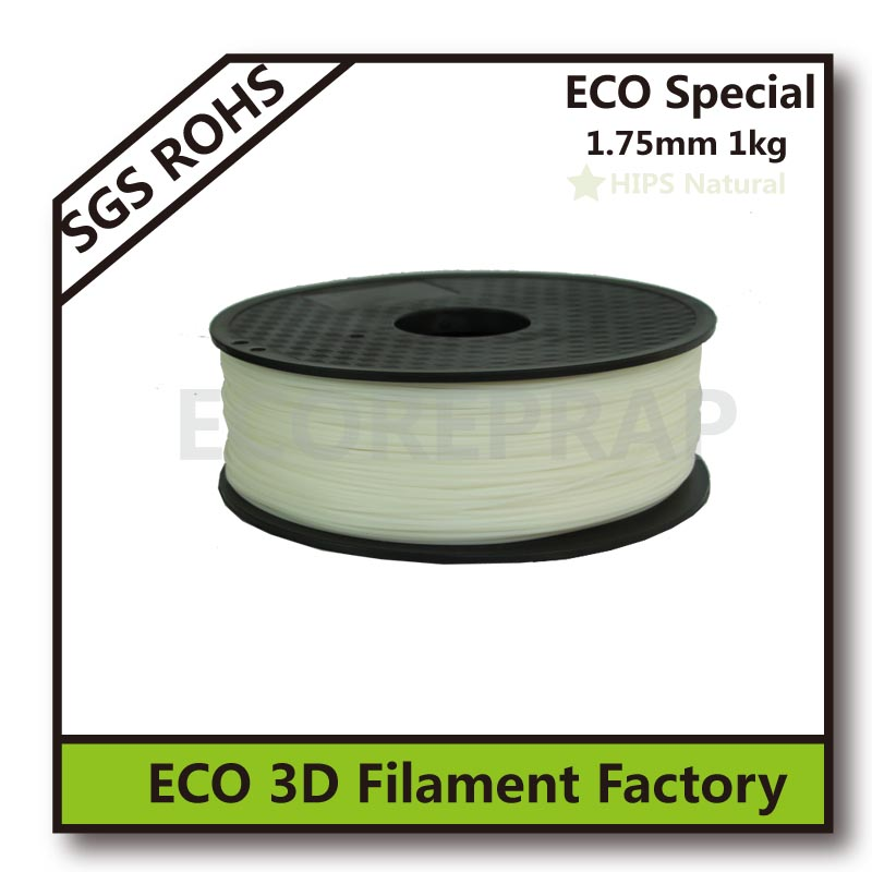 white HIPS 3d printing filament material free shipping