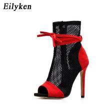 Eilyken 2020 Mới Gợi Cảm Nữ Giày Cao Gót Peep-Mũi Giày Sandal Đế Giày Sandal Mùa Hè Câu Lạc Bộ Giày Nữ Dự Tiệc giày Dép(China)