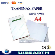 Heat transfer A4 paper light-colored paper for heat press machine(China (Mainland))
