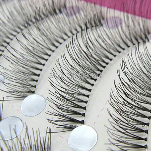 1Box/10Pairs Free shipping New 10 Pair handmade False Eyelashes Quality lash naked Eyelash japan Eye Lashes Transparent h7eoM(China (Mainland))