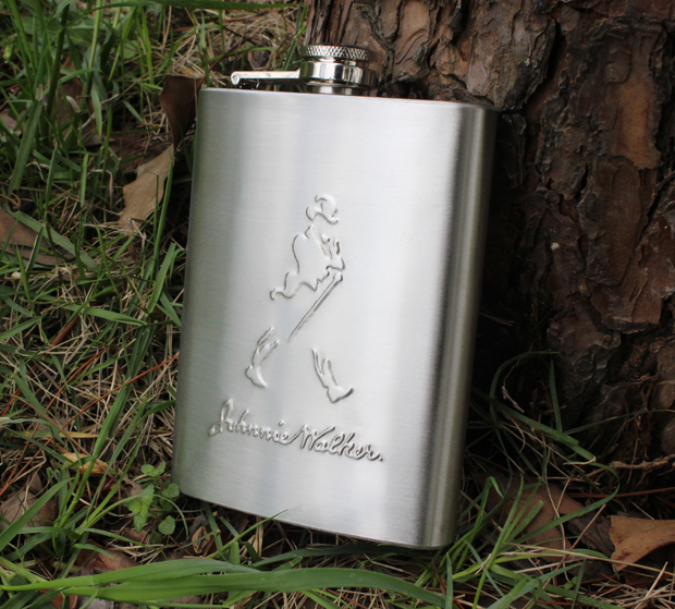 8 johnnie walker hip flask portable stainless steel hip flask set portable bottle metal bottle(China (Mainland))