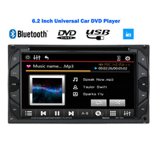 Universal 6.2inch 2 Din Radio HD In Dash Car DVD Player Bluetooth Touch Screen FM Autoradio DVD USB/SD Port MP3/MP4/MP5(China (Mainland))