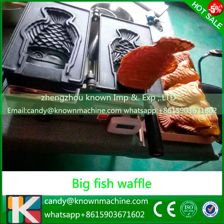 Ice Cream Big Mouth Fish egg Waffle Taiyaki Maker, animal shaped waffle maker